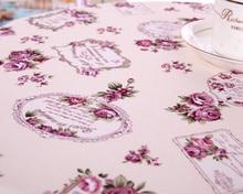 Tela púrpura banquete patio jardín boda de rose vintage Multisize mantel flor Europea Restaurante pastoral Violeta