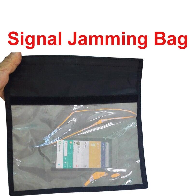 imágenes para Ok bolsa para 6-10 teléfonos w/función de Anti-bolsa de seguimiento y señal aislador bolsa bloqueador de radiación radiación caja del teléfono jammer bolsa