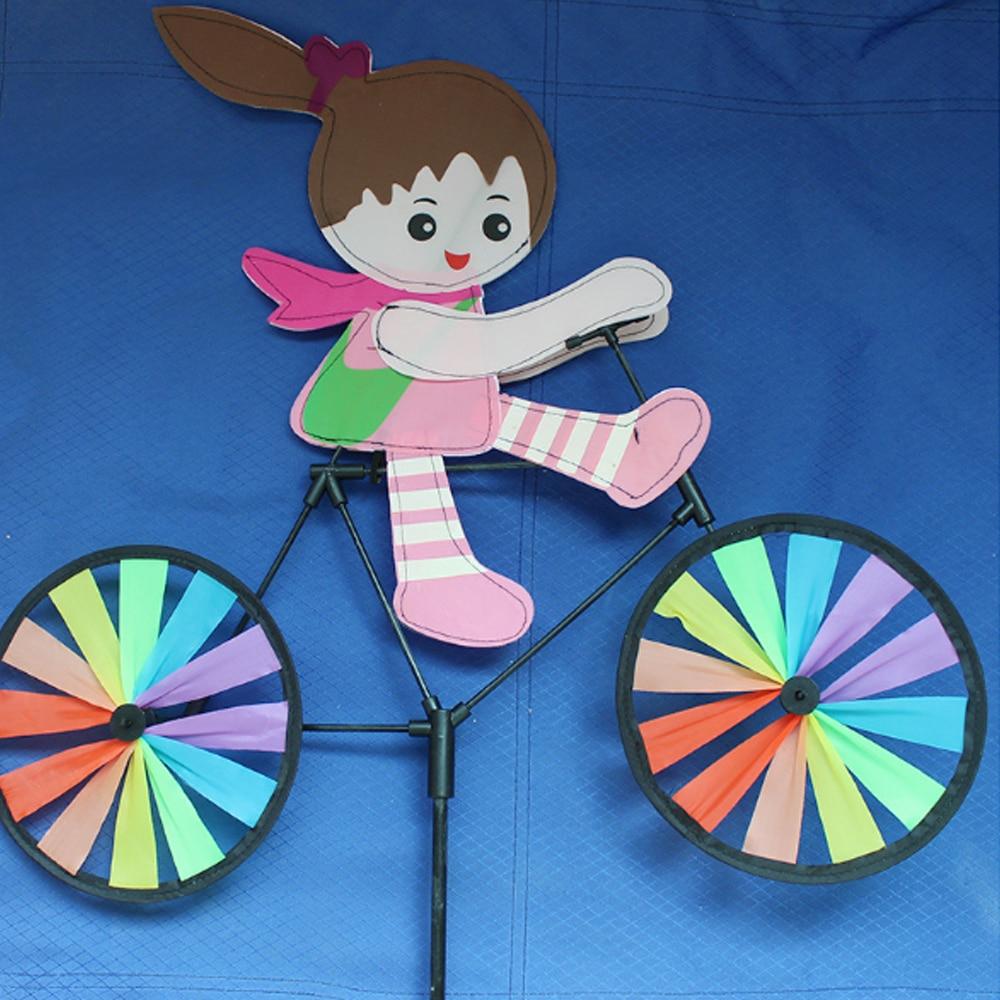 Pinwheel ветряная мельница ветряной Спиннер цвет случайный пластик вихрегиг двора сада 3D газон Открытый Декор Игрушка насекомое