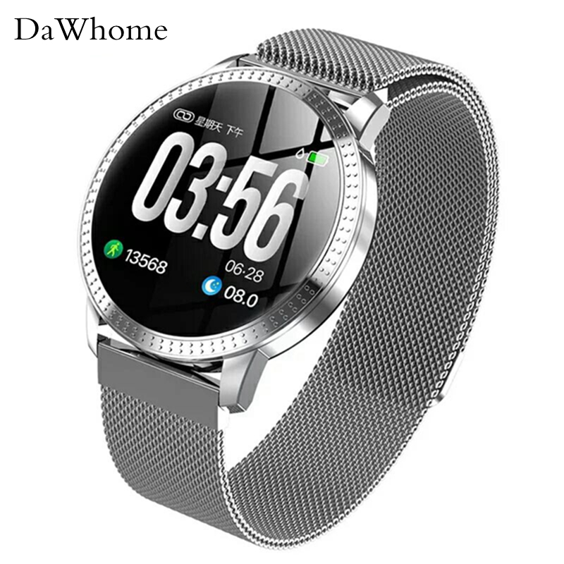 Men Smart Watch Hand Ring Motometer Step Heart Rate Blood Pressure Sleep Monitoring Information Reminds Color Screen Gift Watch