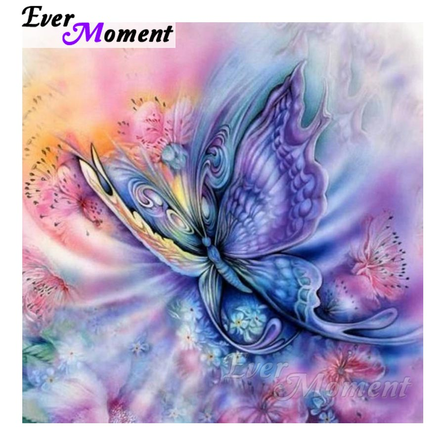 Ever Moment Diamond Embroidery Blue Butterfly Diamond Mosaic Full Square Drills Home Decoration Artwork Diamond Painting ASF1106Ever Moment Diamond Embroidery Blue Butterfly Diamond Mosaic Full Square Drills Home Decoration Artwork Diamond Painting ASF1106