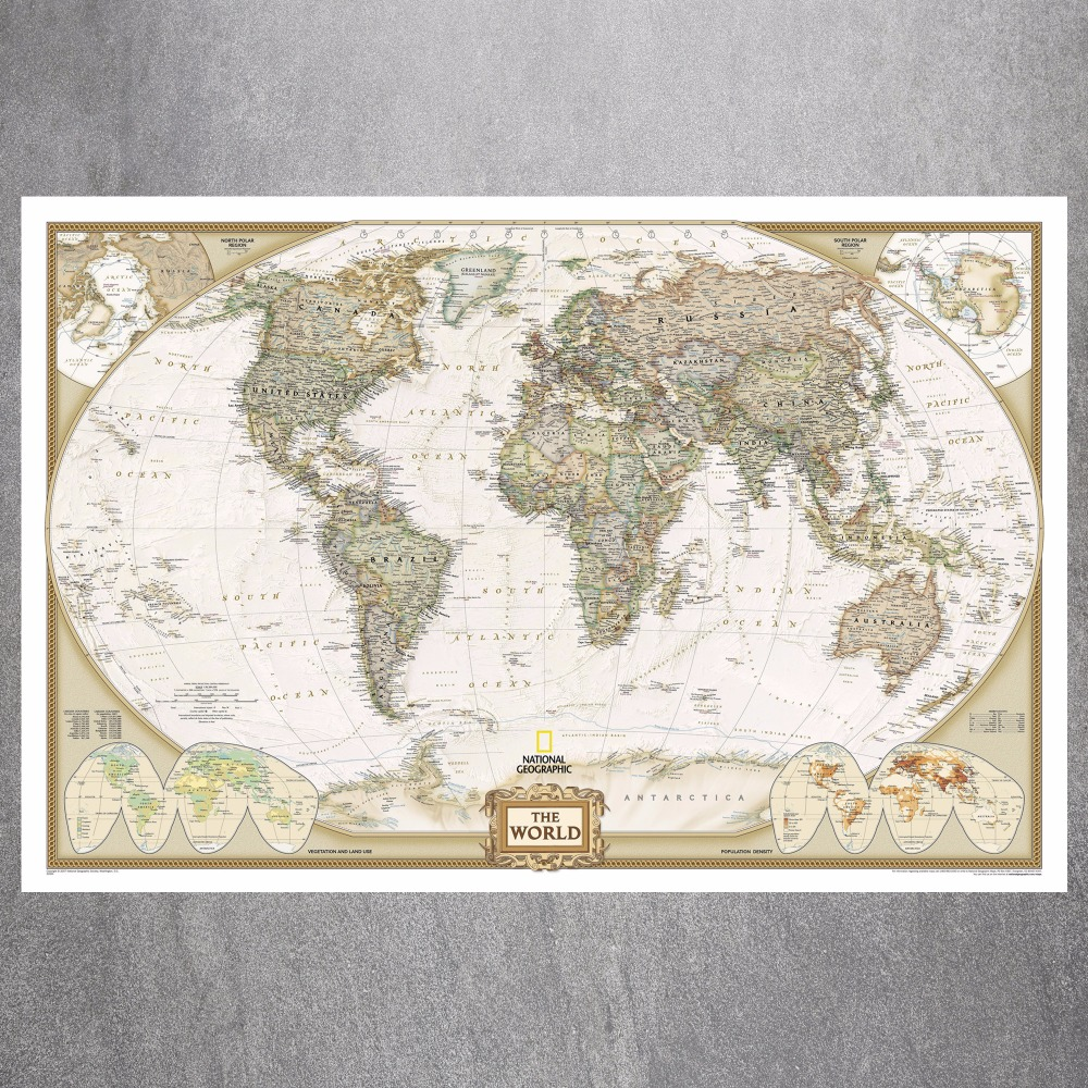 US $7.99 |Vintage Large World Map Canvas Art Print Painting Poster Wall  Picture For Living Room Home Decorative Bedroom Decor No Frame-in Painting  & ...