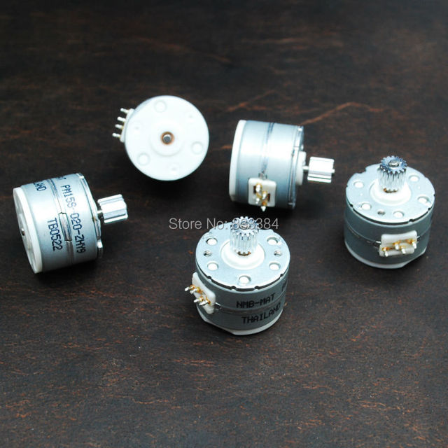 5pcs NMB 2 phase 4 wire Micro stepper motor With output metal gear ...