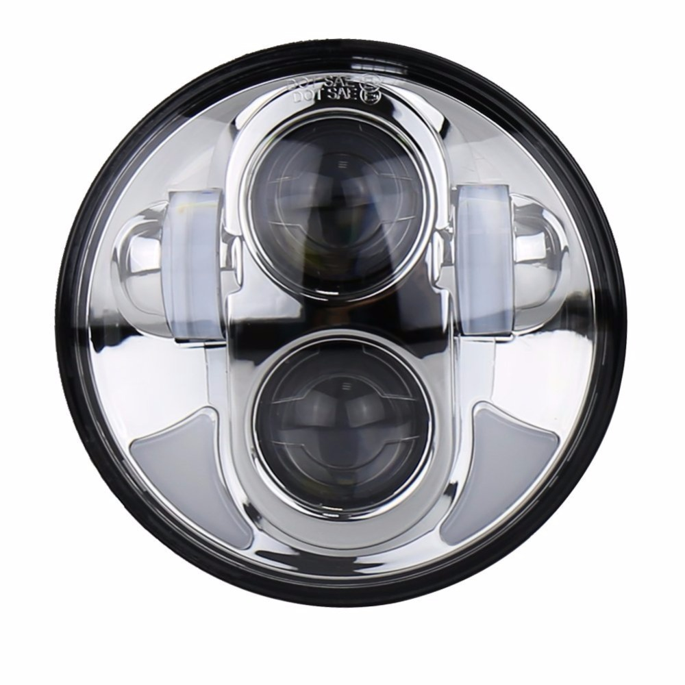 Sunny Good Price 5.75 Inch 5 3/4 Led Head Light Motorcycle Headligt For Harley Sportster Iron 883 Dyna Street Bob Fxdb With Angel Eye Chills And Pains Home