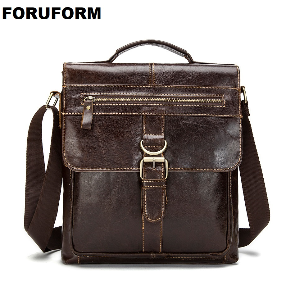 Man Vertical Genuine Leather Bag Men Messenger Commercial men s Briefcase  Designer Handbags Casual Business Shoulder Bags 917ac5e5b879b