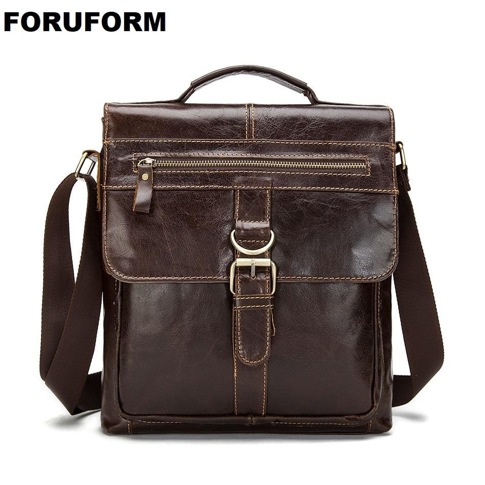 Man Vertical Genuine Leather Bag Men Messenger Commercial men s Briefcase Designer Handbags Casual Business Shoulder