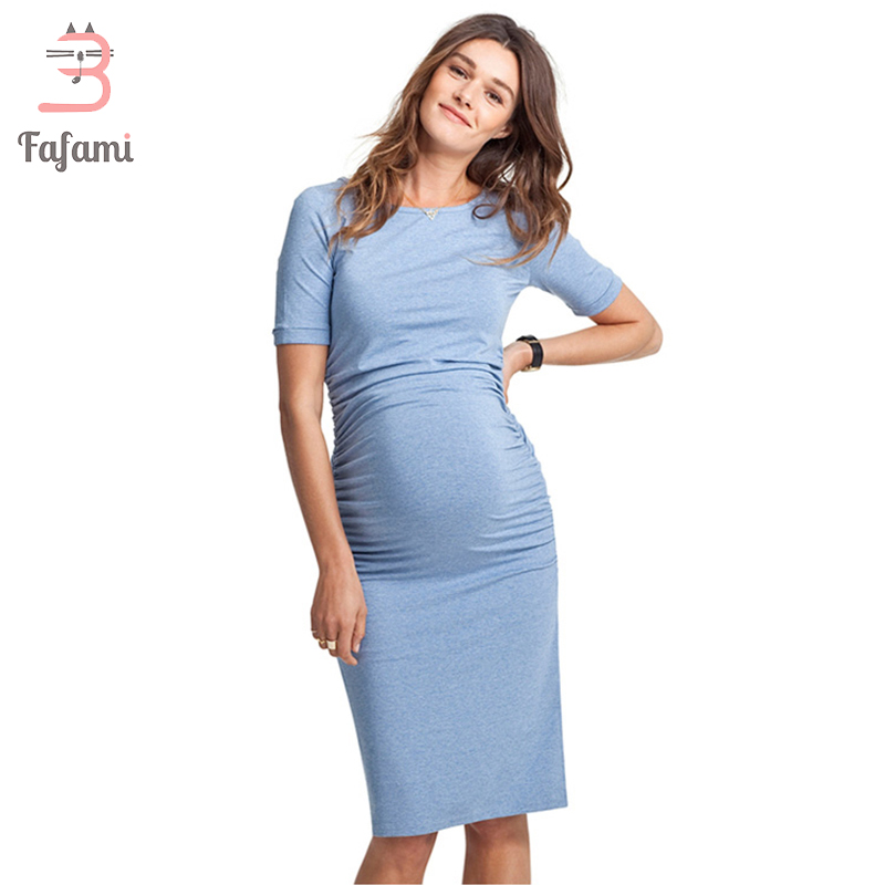 Maternity Dresses Lycra Clothes For Pregnant Women Pregnancy Clothes Maternity Clothing for photo shoot Solid Nursing Dress