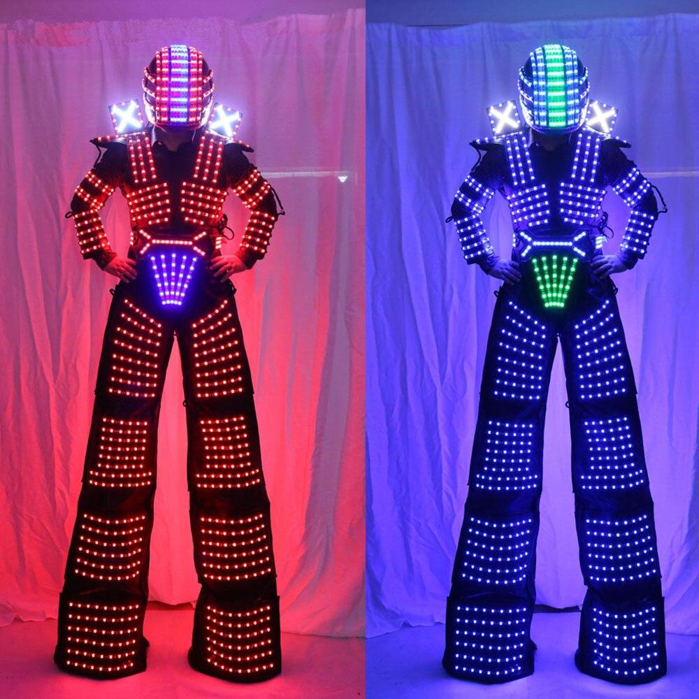 Robot Robot LED échasses marcheur lumière LED robot Costume vêtement événement kryoman costume LED