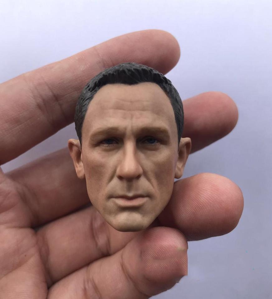 1//6 scale blank Head Sculpt 007 James Bond Daniel Craig Unpainted