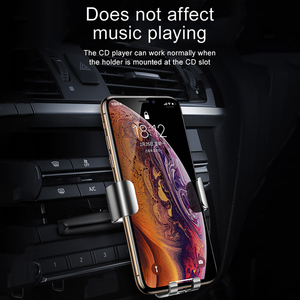 Image 3 - Baseus Gravity Car Phone Holder for Car CD Slot Mount Phone Holder Stand for iPhone 11 Pro Xs Max Metal Cell Mobile Phone Holder