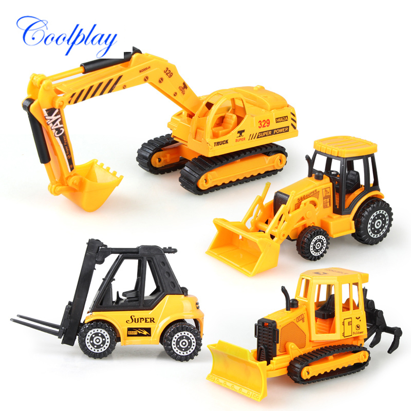 Coolplay Mini Toys Vehicles Construction Car Model Alloy Metal Diecast Model Car Excavator Truck Toys For Children )