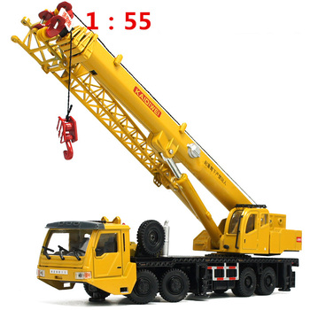 1:55 Mega Lifter Alloy Diecast Model with 4 Front Wheel Steering Linkage 360 Degree Rotate Work Platform Crane Children Gifts large aston martin v12 vantage car model 1 18 alloy diecast car model steering wheel linkage the two front wheel collection toys