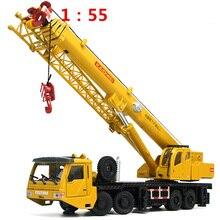 1:55 Mega Lifter Lichtmetalen Diecast Model Met 4 Voorwiel Stuurinrichting 360 Graden Draaien Werk Platform Crane Kinderen Geschenken