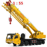 1:55 Mega Lifter Alloy Diecast Model with 4 Front Wheel Steering Linkage 360 Degree Rotate Work Platform Crane Children Gifts