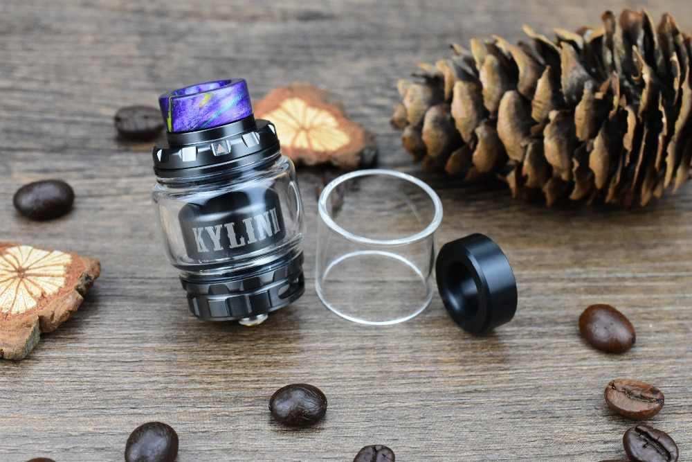 Original Vandy Vape Kylin V2 RTA 3ml/5ml Support Single/Dual Coil Upgraded from Vandyvape Kylin RTA For E Cigarette Box Mod Vape