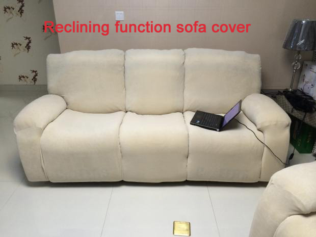 Slipcover Reclining Function Sofa Cover Can Shake Slip Resistant Stretch Slipcover In Sofa Cover