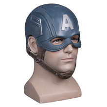 Movie Captain America Mask Cosplay Steven Rogers Superhero Latex Helmet Halloween For Men Party Prop  Masquerade Masks недорого