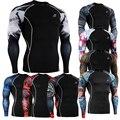 Мужские Рубашки для Мужчин Бодибилдинг Crossfit Забавный Колготки Сжатия Рубашка 3D Печать Rashguard ММА Супер Герои Одежда Тренировки