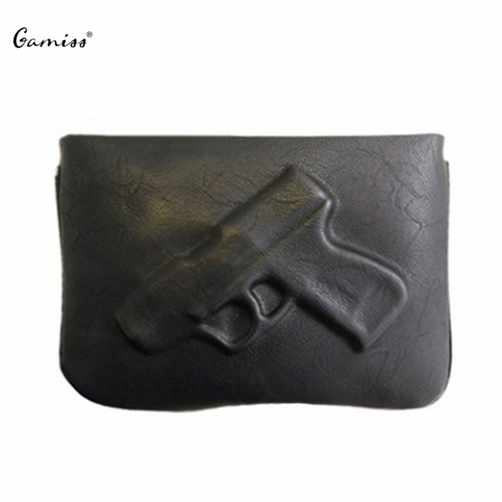 Women Wallets New Fashion Trendy Solid Color and Gun Pattern Design Gamiss Crossbody Bag Casual Womens Purses