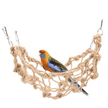 Rope Bird Hammock Net Swing Mesh Ladder Toy Summer for Pet Parrot Bird Chew Play Climbing Cage Hut with Hanging Hook Bed Toys(China)