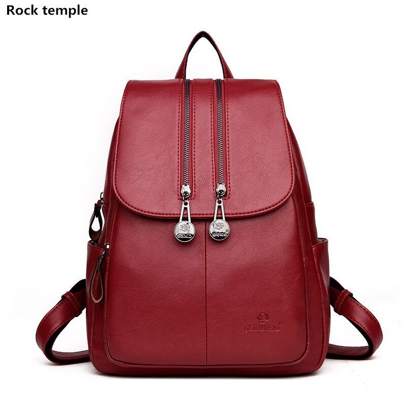 Women Backpack Leather Backpacks Softback Bags Brand Name Bag Preppy Style Bag Casual Daypacks mochila Teenagers Backpack Sac