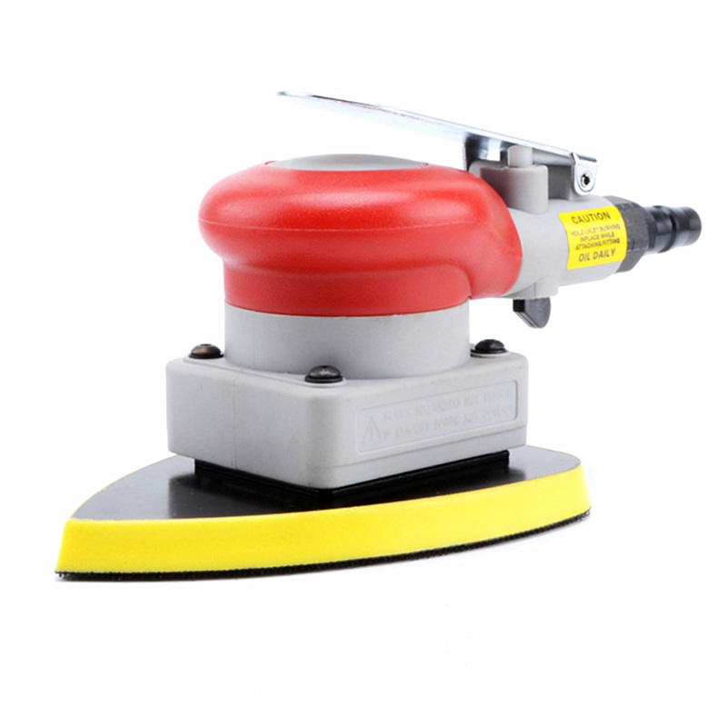 free ship vibration type pneumatic sanding machine trangle grinding machine sand vibration machine polishing machine 90X135mm vertical type abrasive belt machine polishing grinding small bench 915 sand belt
