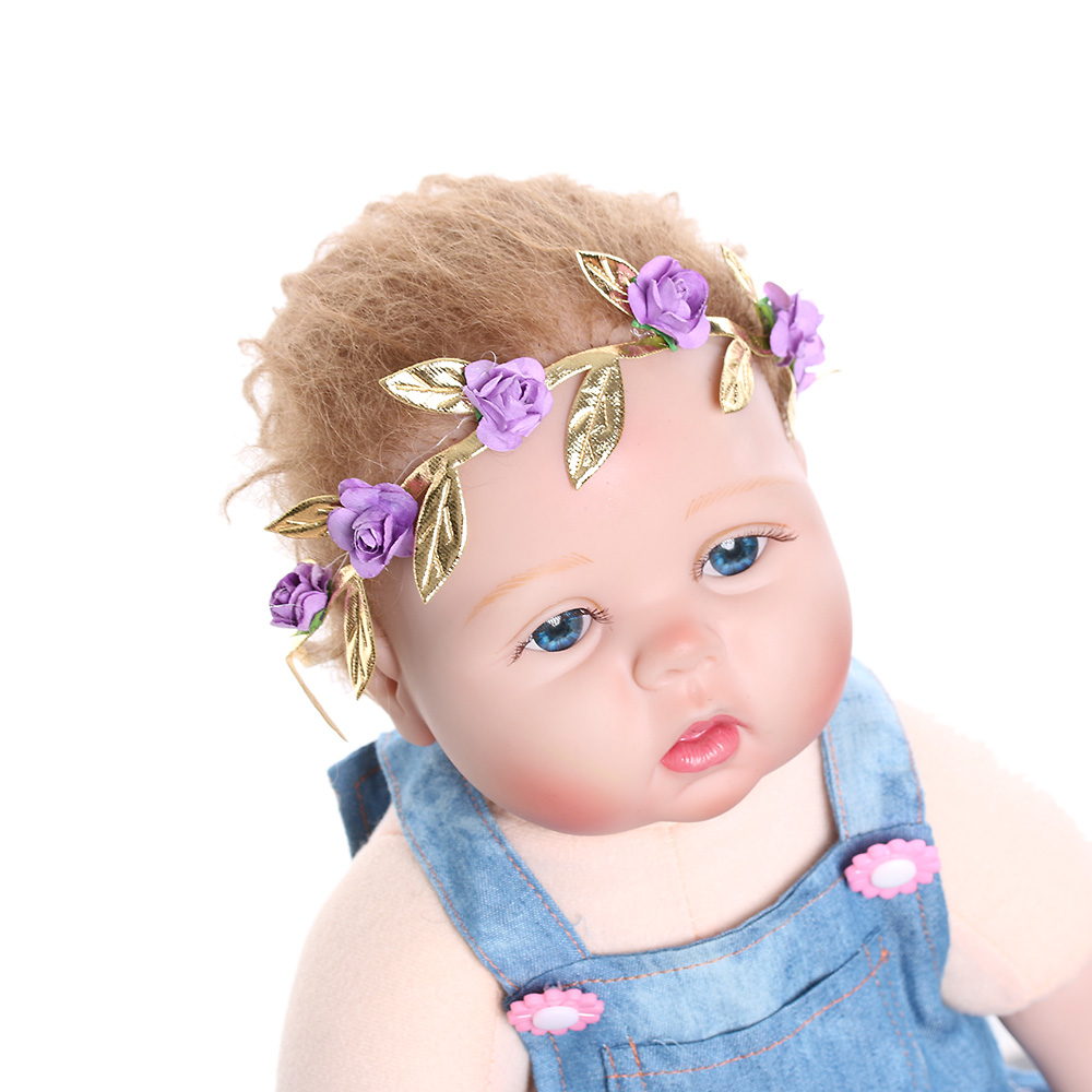 1pc beautiful cute girl rose flower garland chic wedding flower 1pc beautiful cute girl rose flower garland chic wedding flower headband elastic crown wreath hair band accessories 7 colors in hair accessories from mother izmirmasajfo