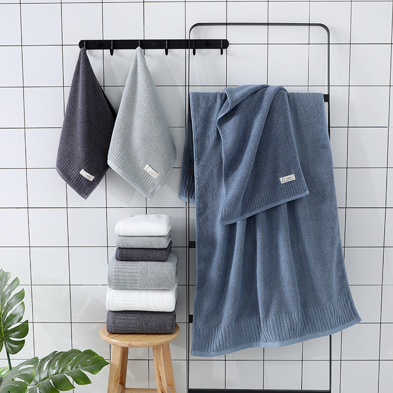 Image 5 - LREA 1pc FASHION Pure and fresh style face towel 100% cotton material Soft and comfortable Protect your skin 34x71cm-in Face Towels from Home & Garden