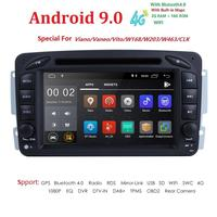 2 Din Android 9.0 Car DVD Radio Player car stereo gps navi For Benz W203 W208 W209 W210 W463 Vito Viano with wifi bt swc IPS DSP