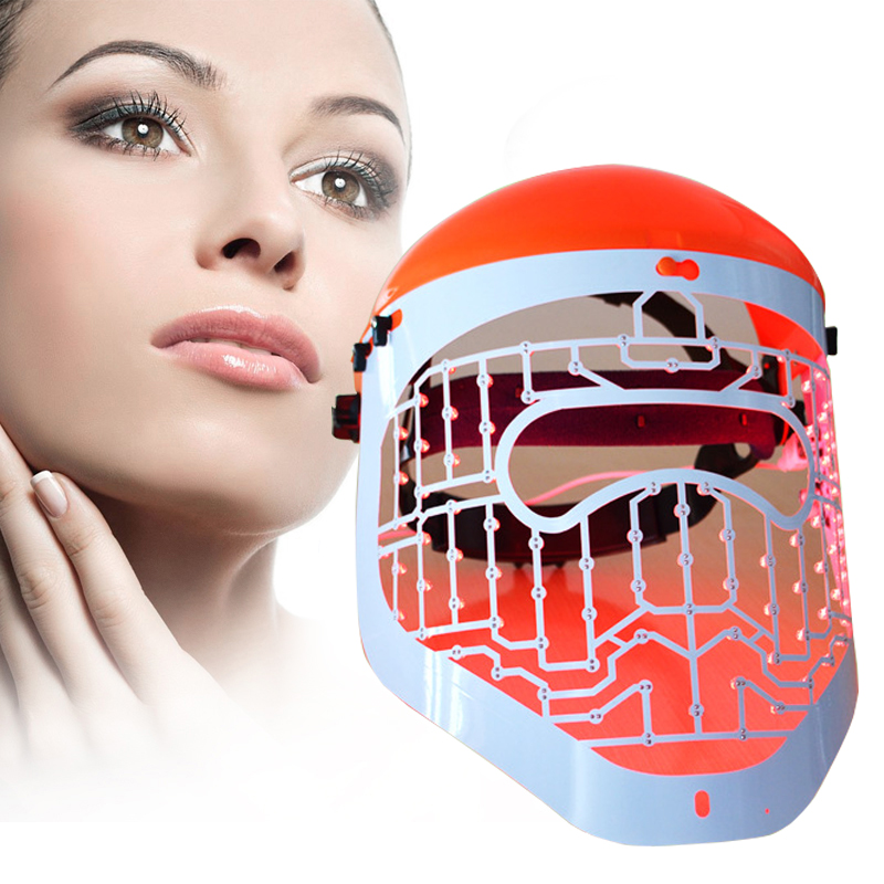 3 color light therapy Facial Mask Photon LED Skin Rejuvenation PDT wrinkle Acne Remover Skin Care anti aging Facial massager 7color led mask photon light skin rejuvenation therapy facial mask ice roller stainless steel blackhead needle bend curved