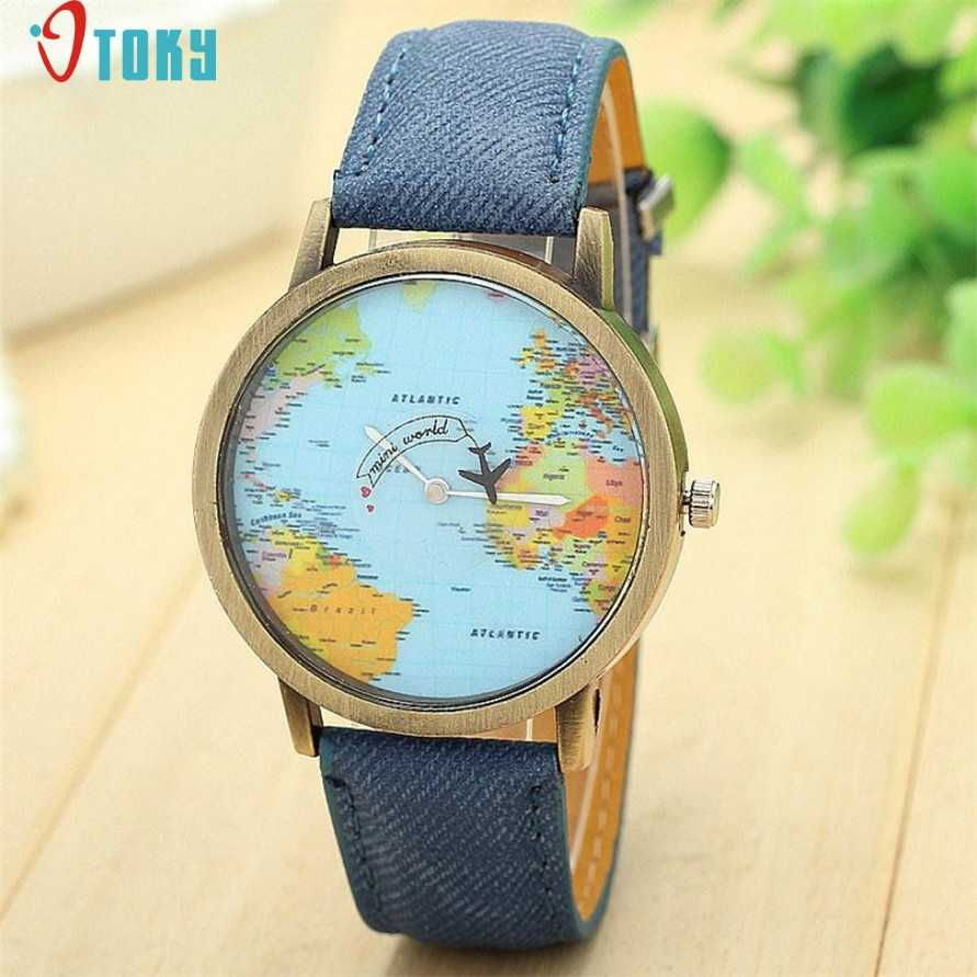 OTOKY Willby Mini World Map Watch Men Women Gift Watches  World Map Watch Globe Graduation for lover Gift Drop Shipping