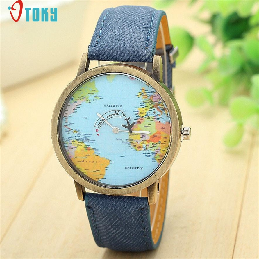 US $1.06 33% OFF OTOKY Willby Mini World Map Watch Men Women Gift Watches on equator map, us and europe map, australia map, google map, continent map, country map, canada map, middle east map, earth map, philippines map, united states map, america map, london map, hemisphere map, tectonic plates map, global map, austria map, syria map, robinson map, usa map,
