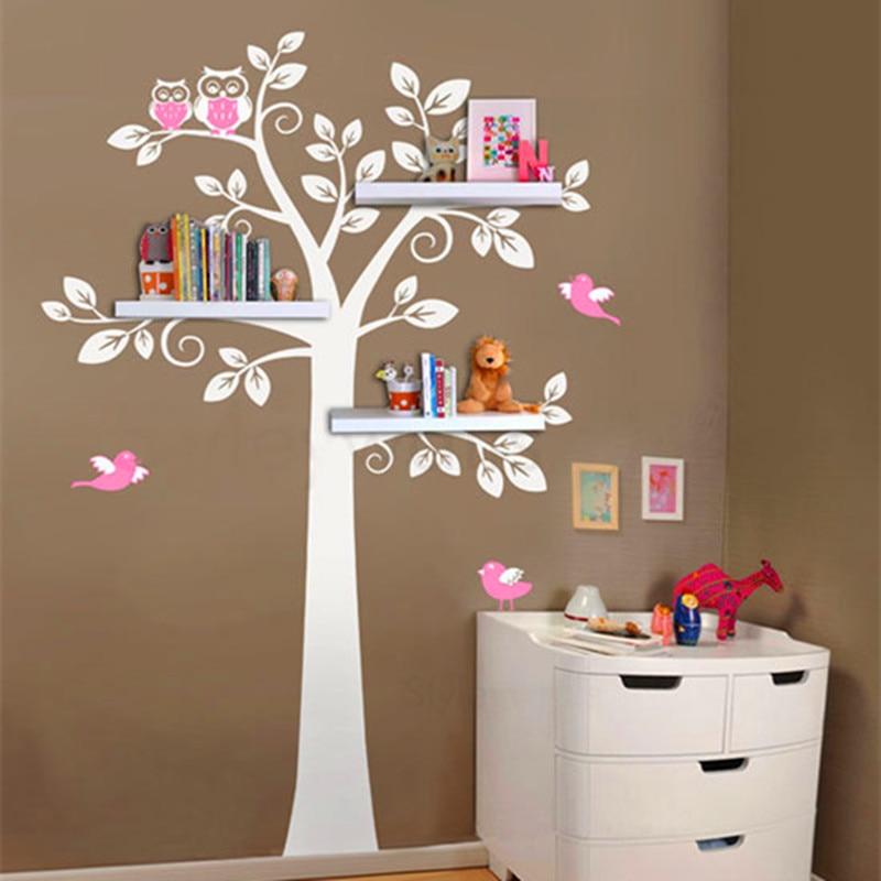 Aliexpress.com: Compre Prateleira Corujas Tree Decalque Em Parede Adesivos  De Vinil Crianças Quarto Pintura Mural Da Parede Do Berçário Do Decalque  Adesivo ... Part 89