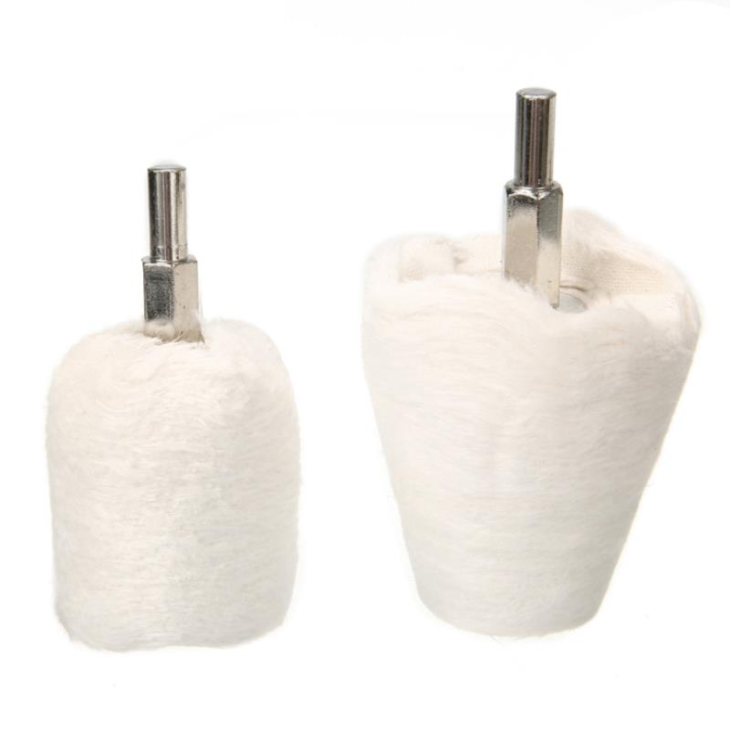 4pcs/set Durable Drill Polishing Cloth Wheel Kit White Buffer Pad Attachment Multi Shape Polishing Buffing Tool