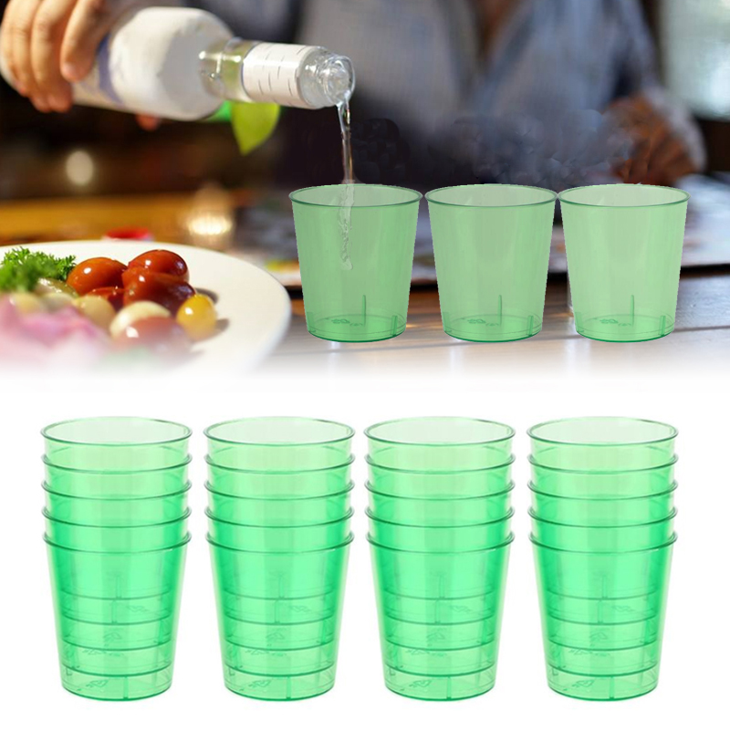 20pcs/lot 30ml Plastic <font><b>Neon</b></font> Coloured Drink Disposable <font><b>Cups</b></font> for Wedding <font><b>Birthday</b></font> New Year Party Supplies