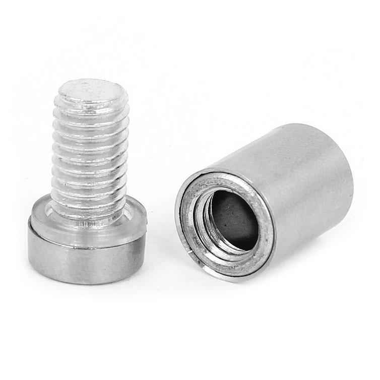 Stainless Steel Advertisement Screws Glass Standoff 12x20mm 10 Pcs