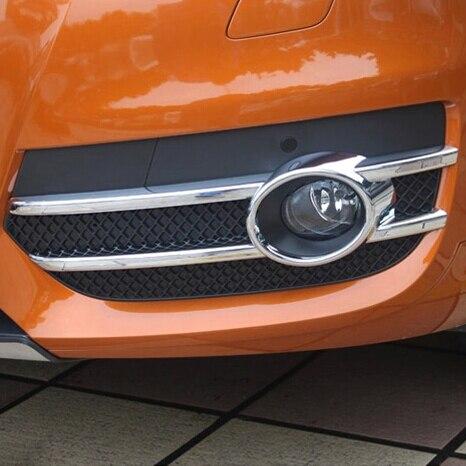 For Audi Q3 2012 2013 2014 2015 ABS Chrome Front Bumper Fog Light font b Lamp