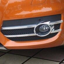 Для Audi Q3 2012 2013 2014 2015 ABS Chrome переднего бампера Туман свет лампы Кепки крышка хромированной отделкой автомобиля литье интимные аксессуары для укладки