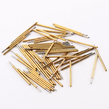 NEW Hardware Accessories 100/Pack Metal Spring Probe P50-B Nickel Plated Length 16.35mm Gold Tool Electronic Test