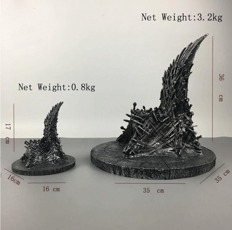 The Iron Throne Game of Thrones Statue Resin Moderne Toy 17cm Action & Figures Sculpture High Quality Toys Christmas Gift Adults the garage kit resin kit of weeping angels doctor who action figure gift toys mini figures