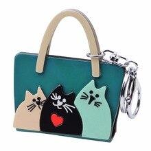 Cute Three Cats Keychain – NEW
