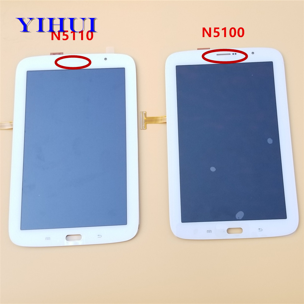 YIHUI For Samsung Galaxy Note 8.0 N5100 GT-N5100 N5110 Touch Screen Digitizer Sensor + LCD Display Panel Monitor Assembly new 8 for samsung galaxy note 8 gt n5100 n5100 lcd display matrix screen touch digitizer sensor tablet pc assembly parts