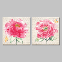 Modern Blossom Of Lush Pink Flower Art Print Canvas Painting Vintage Home Decorative Wall Pictures For
