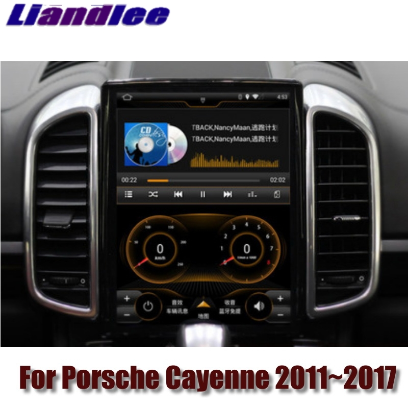 For Porsche Cayenne S V6 92A 2011~2017 MACAN NAVI 2G RAM Liandlee Car Multimedia GPS WIFI Audio CarPlay Radio Navigation MAP baraf s 2g
