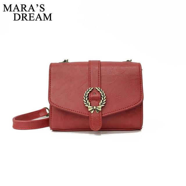 721b6e3947 Mara s Dream Mini Crossbody Bag Fashion Small Women Shoulder Bag Solid  Color PU Leather Chains Women Vintage Messenger Handbags