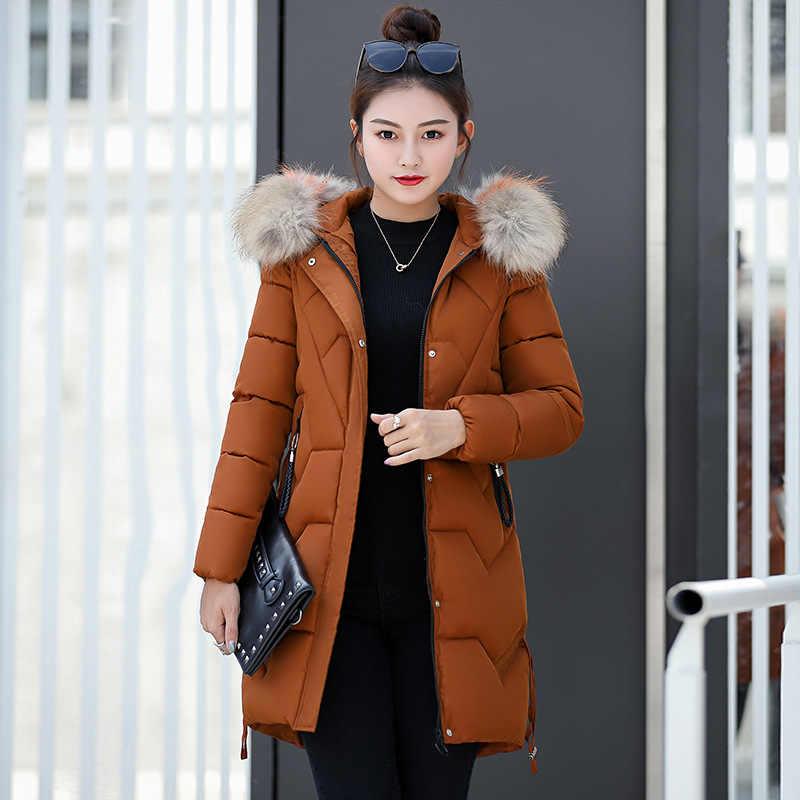 2019 スリムコートロングウールコート Ks6038 厚く暖かい女性パーカー冬ジャケット女性のウールの帽子毛皮 HoodedDown ジャケット