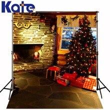 christmas backgrounds Indoor Christmas tree window 5x7ft(1.5×2.2m) background ZJ