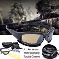 Military Goggles Daisy X7 Bullet-proof Army Sunglasses Men Hunting Shooting Airsoft Tactical Eyewear Gafas Black color 4lenses