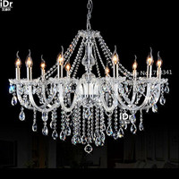 Newest 10 Head Christmas Modern Crystal Hotel Hall Chandeliers Free Shipping