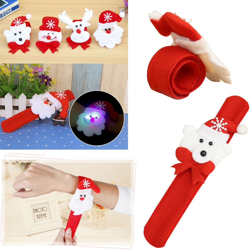 Wrist Straps LED Bracelet Band Christmas Ornament Gift Luminous Decoration Xmas